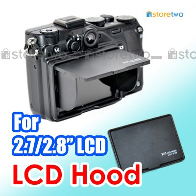 "JJC LCD Hood for 2.7"" 2.8"" LCD Screen Monitor 3-Sided Canopy"