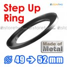 Step Up 49mm to 52mm Filter Ring Adapter Mount Metal