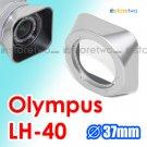 LH-40 - JJC Silver Lens Hood for Olympus M.ZUIKO DIGITAL ED 14-42mm f/3.5-5.6 II R
