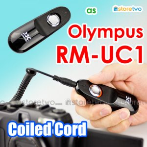 RM-UC1 - JJC Shutter Remote Control Coiled Cord 90cm for Olympus Camera