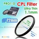 JYC Ultra Thin PRO1-D Circular Polarizer CPL Filter 72mm