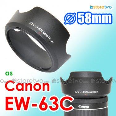 EW-63C - JJC Lens Hood for Canon EF-S 18-55mm f/3.5-5.6 IS STM 58mm Filter Thread