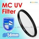 Green.L Multi Coated Ultraviolet MC UV Filter 58mm