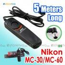 MC-30/MC-36 - JYC 5 Meters Shutter Remote Control for Nikon, Kodak and Fuji Camera