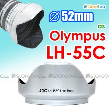 Silver LH-55C - JJC Lens Hood for Olympus M.ZUIKO DIGITAL ED 12-50mm f/3.5-6.3 EZ