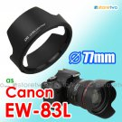 EW-83L - JJC Lens Hood for Canon EF 24-70mm f/4L IS USM 77mm Filter Thread