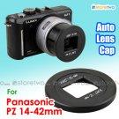 JJC Self-retaining Auto Lens Cap for Panasonic Lumix G X Vario PZ 14-42mm f/3.5-5.6 (H-PS14042