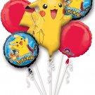 Pokemon Pikachu and Friends 5 Mylar Balloons Bouquet