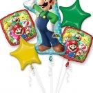 Luigi Balloon Bouquet (5) balloons