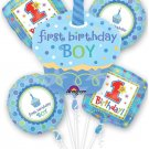 Sweet Little Cupcake Boy Bouquet of Balloons (5pc)