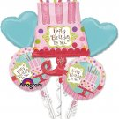 Mayflower Products Sweet Stuff Cake Balloon Bouquet