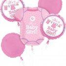 Girl Baby Shower Onesie Balloon Bouquet