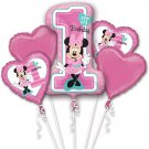 MINNIE 1ST BIRTHDAY, Balloon Bouquet