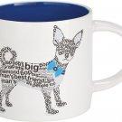 "Enesco Wild About Words Chihuahua Mug, 3.5"", Multicolor"
