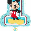 "Mickey Mouse 1st Birthday Super Shape"" Foil Balloon"
