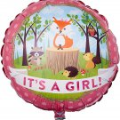"18"" Woodland Baby Girl Foil Balloon"