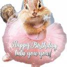 Happy Birthday Tutu You Chipmunk Junior Shape Foil Balloon