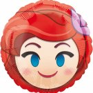 Disney The Little Mermaid Ariel Emoji Style Foil Party Balloon, 17""