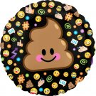 "17"" Poop Emoticon Foil Balloon"