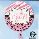 Safari Baby Girl Foil Balloon, 18""