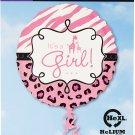 """Safari Baby Girl Foil Balloon, 18"""""""