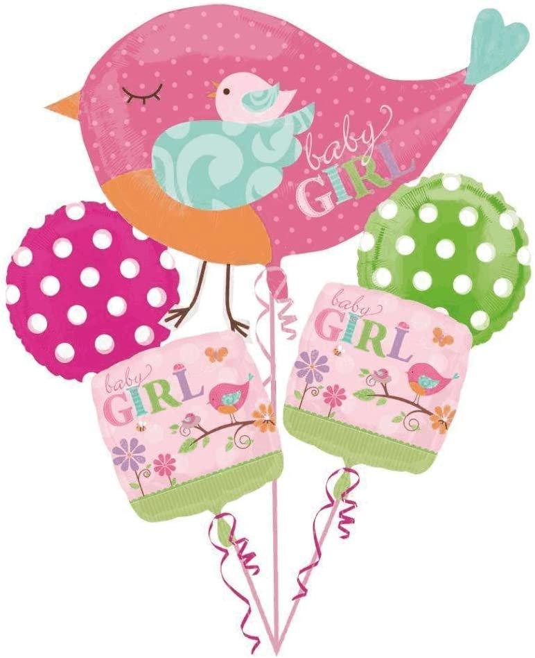 Tweet Baby Girl Balloon Bouquet