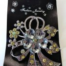 Flower Brooch Pin - Clear