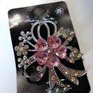 Flower Brooch Pin - Pink