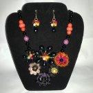 Natural Stones Flower Necklace Set