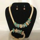 Blue Ceramic Beads Set
