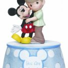 Precious Moments Disney Boy Holding Mickey Musical Figure