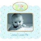 Jesus Loves Me Porcelain Photo Frame, Boy