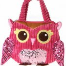 "Girly Pink Owl Hand Bag 10"" by Fiesta"