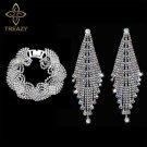 Crystal Tassel Jewelry Set
