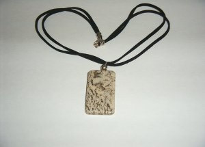 Feldspar Necklace - SS on black leather 30-0009