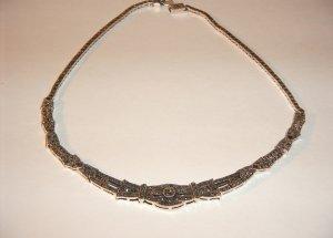 Designer Marcasite Necklace 30-0005