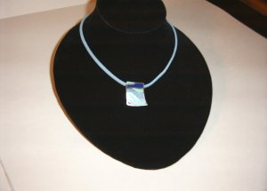 Blue Lapis and Turquoise Inlay in SS Necklace 30-0011