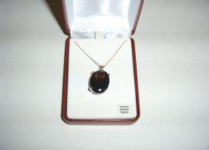 Sterling Silver Smokey Topaz Necklace  30-0019