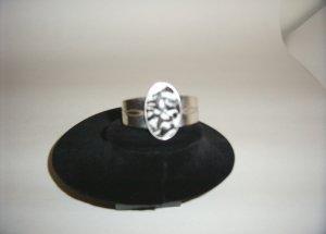 Sterling Silver Black/White Tiger Cuff Bracelet 31-0001