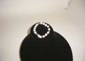 Bracelet- Ameythyst, Pearl & 14K Gold Beads 31-0008