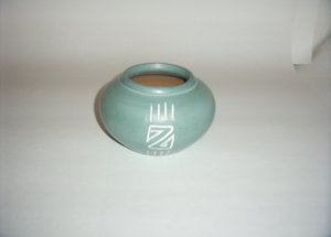 Pottery- Turquoise Painted - Z design Bowl 60-0032