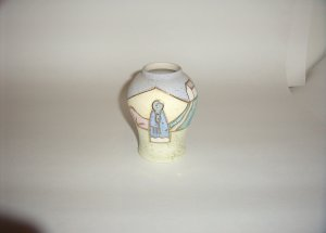 Pottery- Mexican by R Gonza in Pastels Vase 60-0035