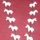 Al White Horse Necklace-2 Dimensional