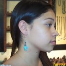 Eagle Loop Earrings-Turquoise