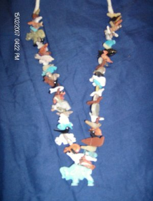 Stack Necklace with Turquoise Buffalo Bottom