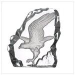 Glass Carved Eagle