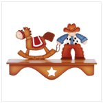 Cowboy and Rocking Horse Wall Shelf