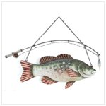 Fish & Pole Wall Plaque