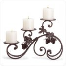 Wrought Iron and Grapes Candle Holder