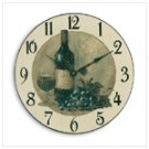 Wood Wine Theme Wall Clock